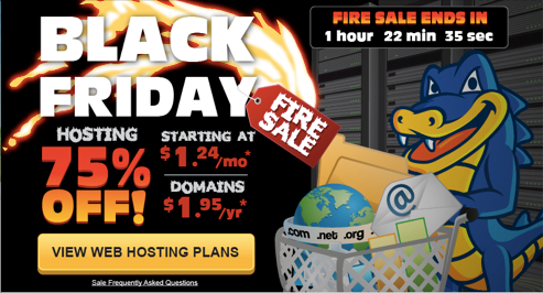HostGator Black Friday-Cyber Monday 2013