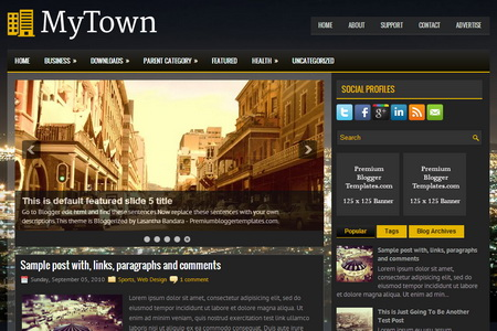 MyTown Blogger Template