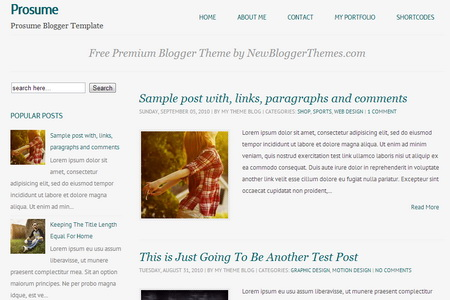 Prosume Blogger Template