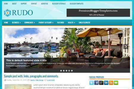 Rudo Blogger Template