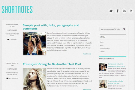 Shortnotes Blogger Template
