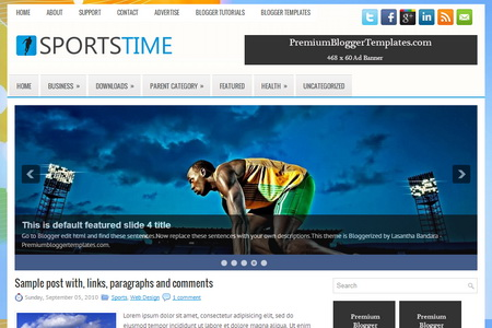 SportsTime Blogger Template