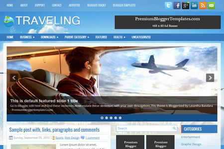 Traveling Blogger Template