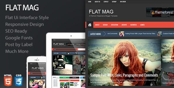 Flat Mag Premium Blogger Template