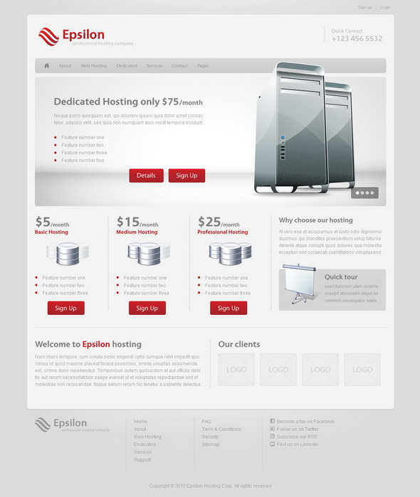 Epsilon - Hosting WordPress Theme