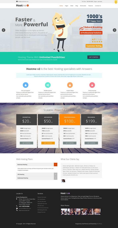 Hostme v2 Responsive Premium WordPress Theme