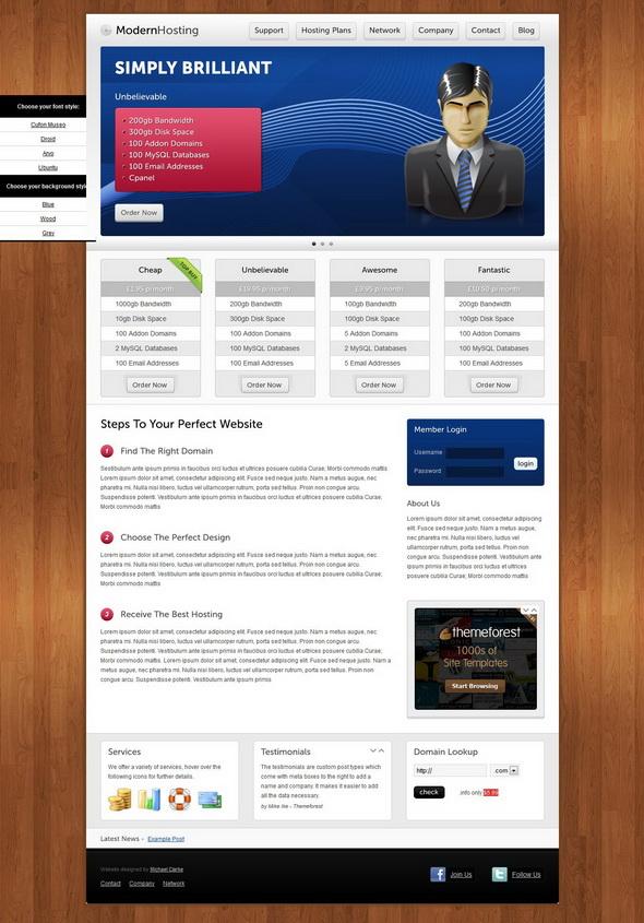 Modern Hosting - Premium WordPress Theme
