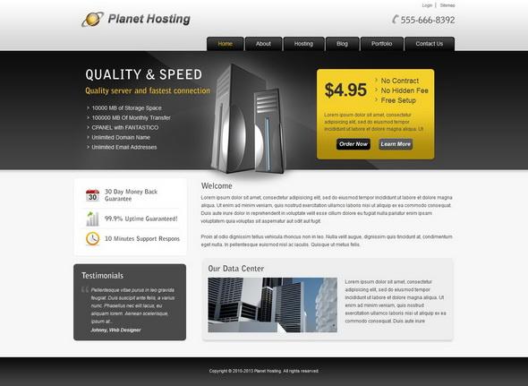 Planet Hosting - Hosting WordPress Theme