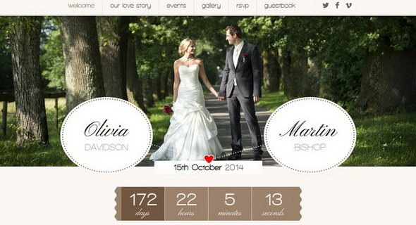 Romantic WordPress Theme