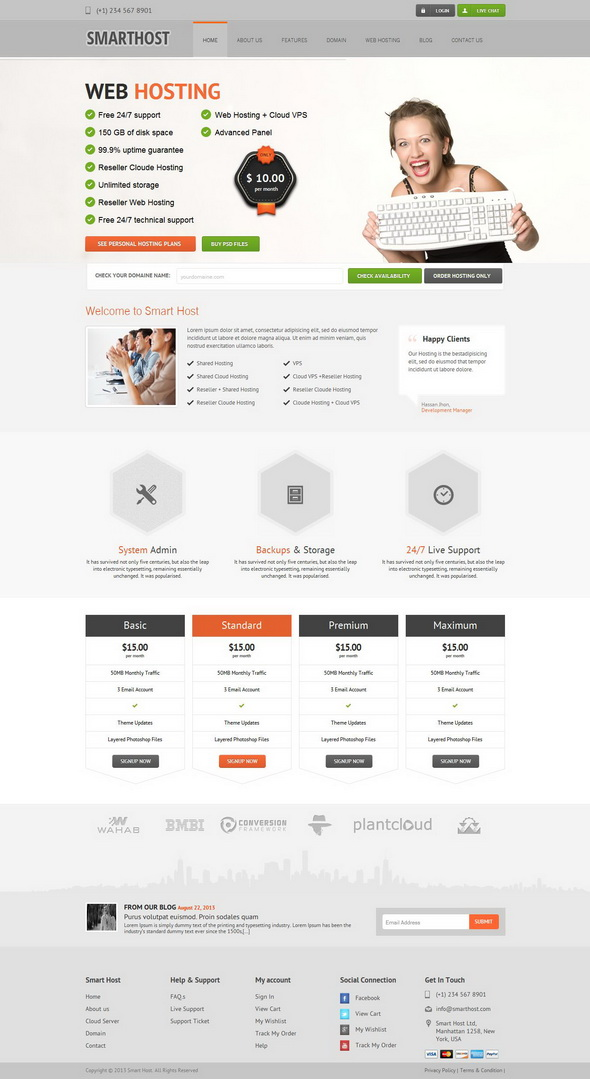 Smart Host-Responsive WordPress Theme