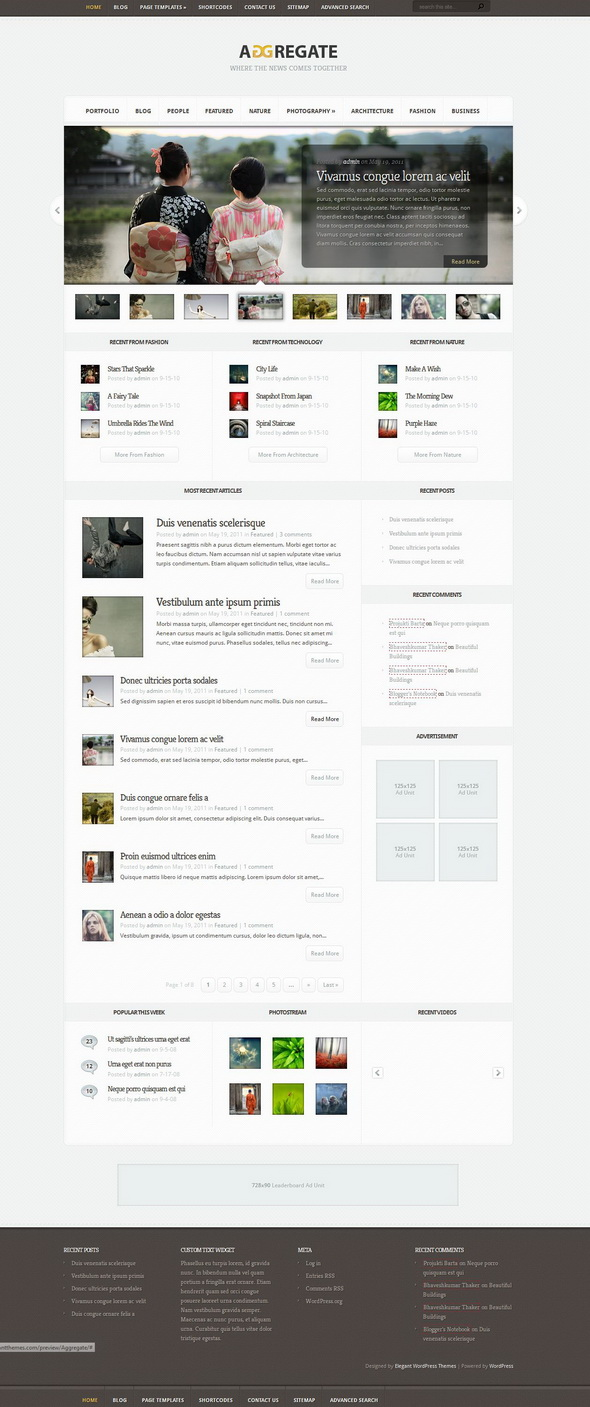 Aggregate WordPress Theme