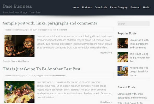 Base Business Blogger Template