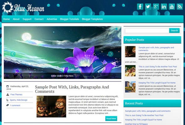 BlueHeaven Blogger Template