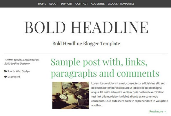 Bold Headline Blogger Template