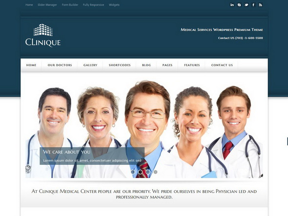 Clinique - Responsive Medical Theme