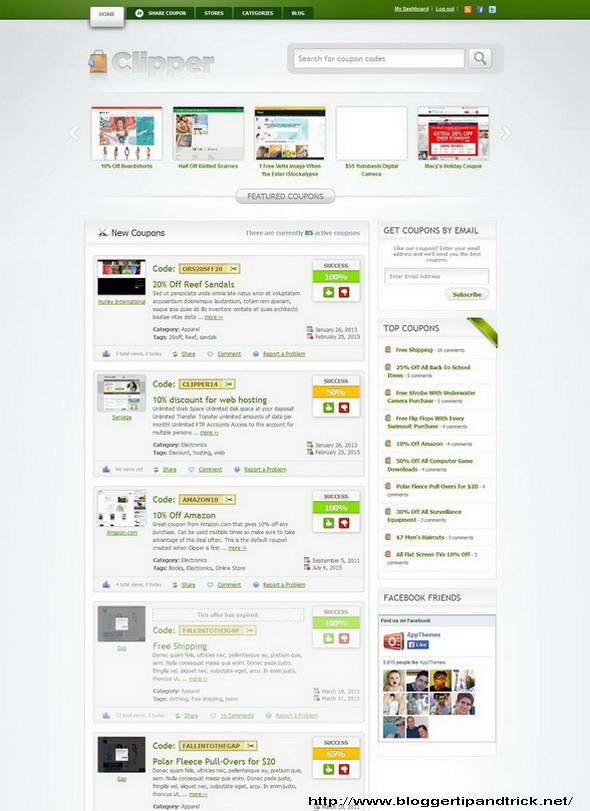 Clipper - Coupon WordPress Theme