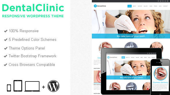 Dental Clinic Responsive WordPress Theme