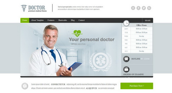Doctor - Universal Medical WordPress Theme