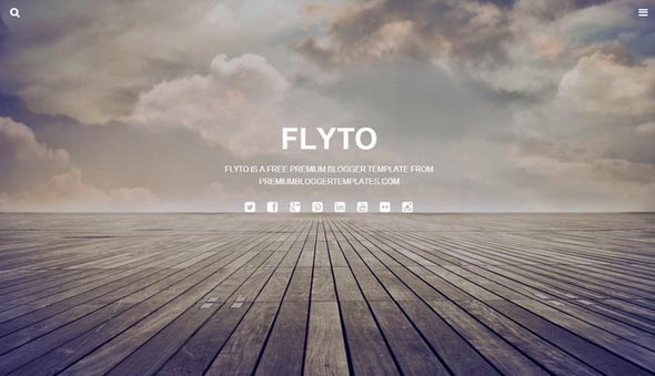 Flyto Blogger Template