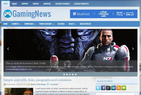 GamingNews Blogger Template