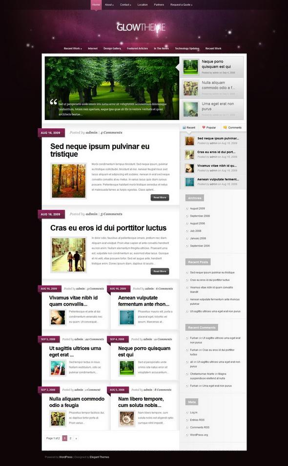 Glow WordPress Theme