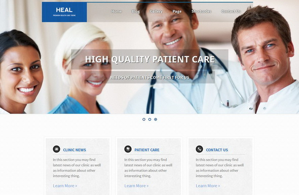 HEAL - Responsive Medical WordPress Theme