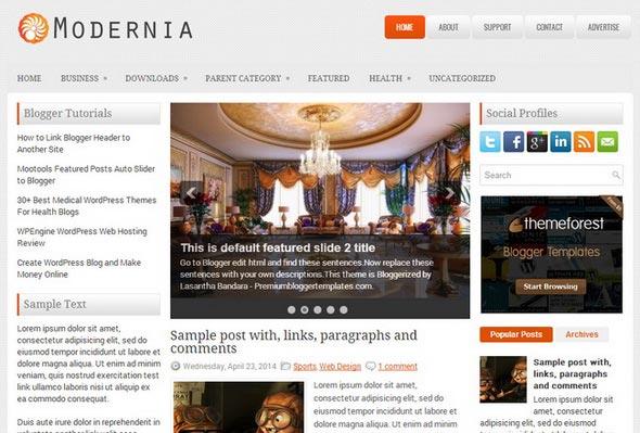 Modernia Blogger Template