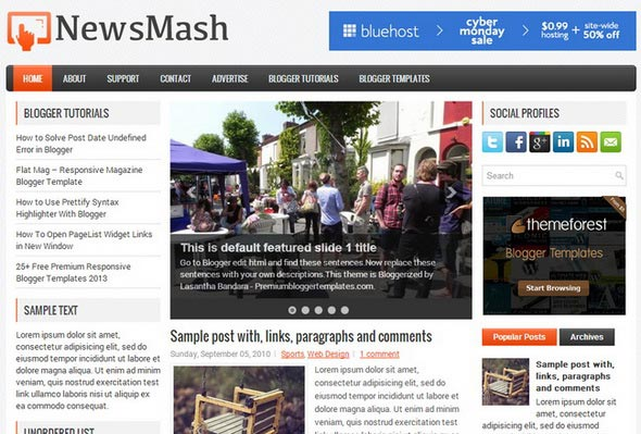 NewsMash Blogger Template