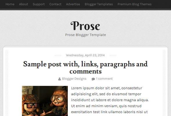 Prose Blogger Template