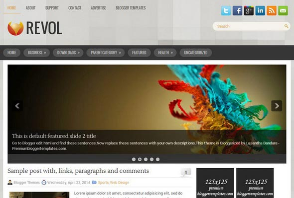 Revol Blogger Template