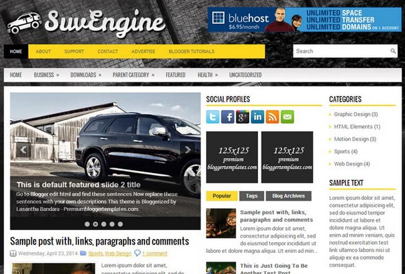 SuvEngine Blogger Template