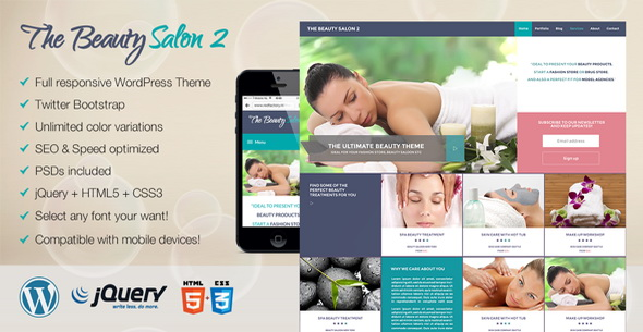 The Beauty Salon 2 Premium WordPress Theme