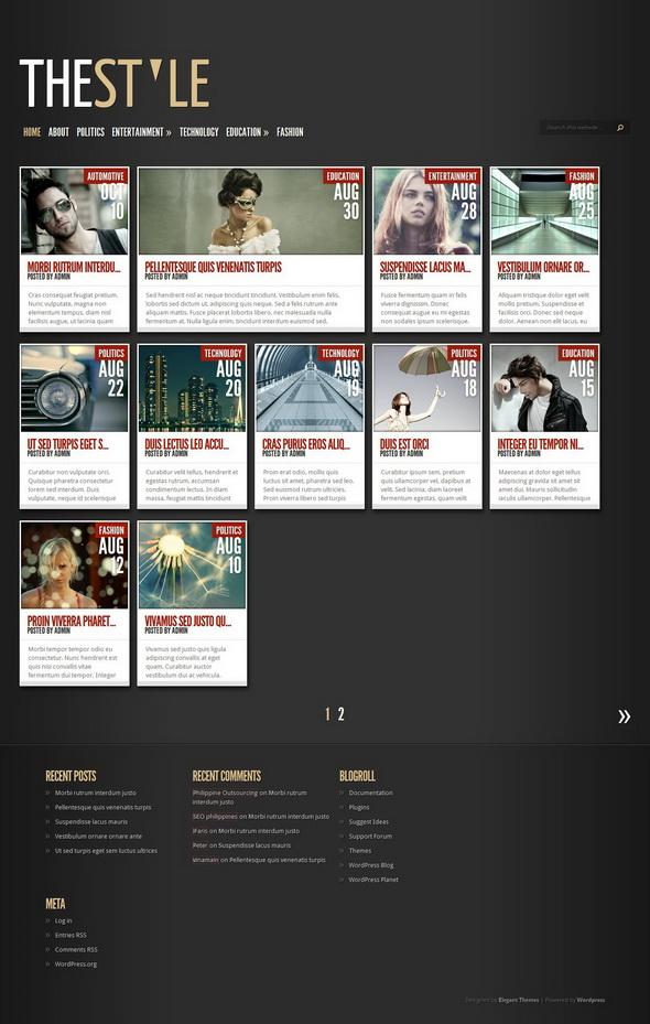 TheStyle WordPress Theme