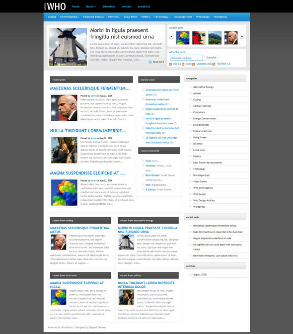 WhosWho WordPress Theme
