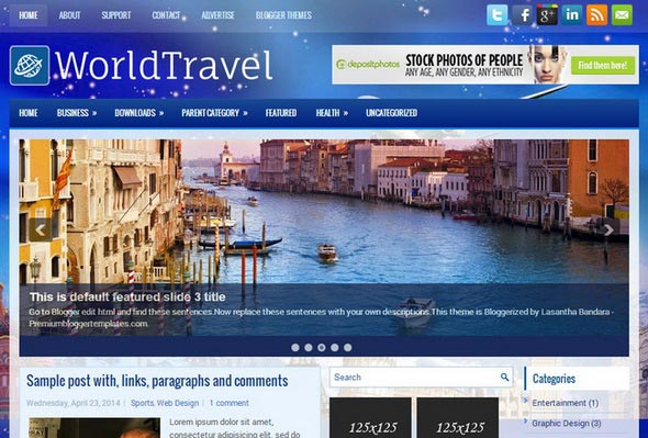 WorldTravel Blogger Template