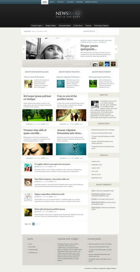 eNews WordPress Theme