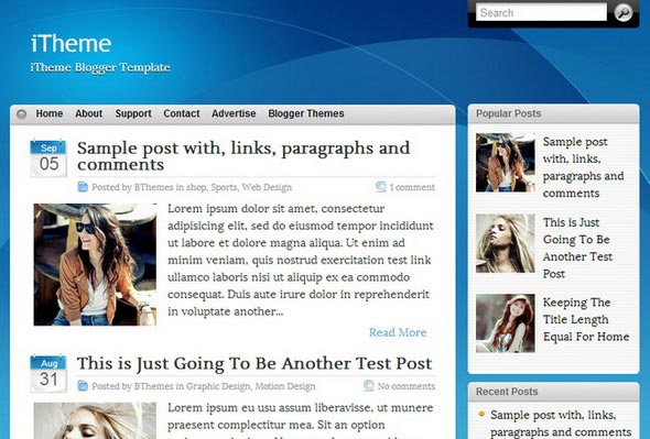 iTheme Blogger Template