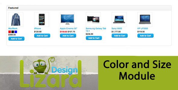 Color and Size Opencart