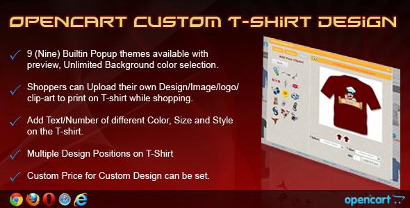 OpenCart Custom T-Shirt Design