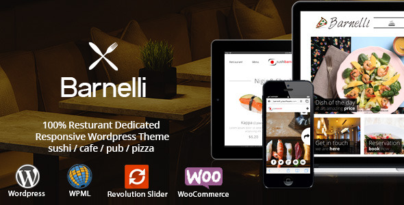Barnelli - Restaurant Responsive WordPress Theme