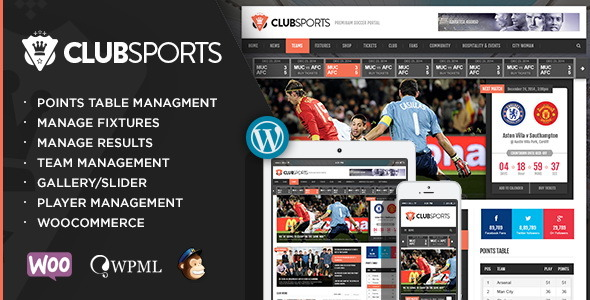 Club Sports - Events & Sports News WP Theme