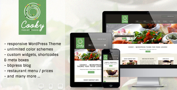 Cooky - Restaurant Responsive WordPress Theme