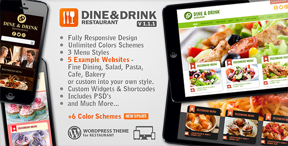 Dine & Drink - Restaurant WordPress Theme