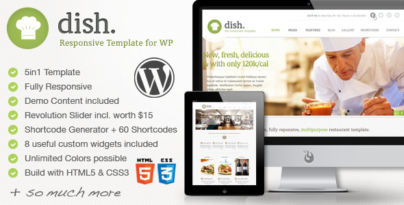 Dish - Restaurant Multipurpose WordPress Theme