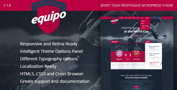 Equipo - Responsive WordPress Theme