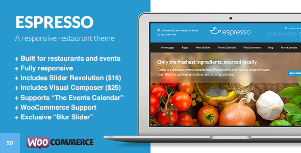 Espresso - A WordPress Theme for Restaurants