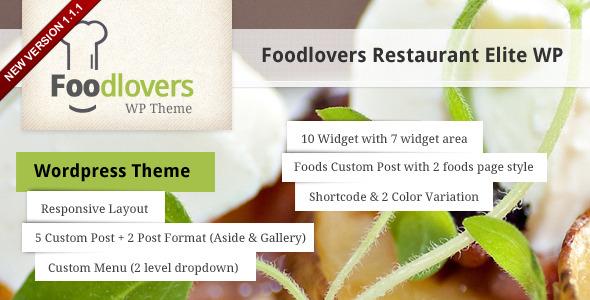 Foodlovers Restaurant Elite WP