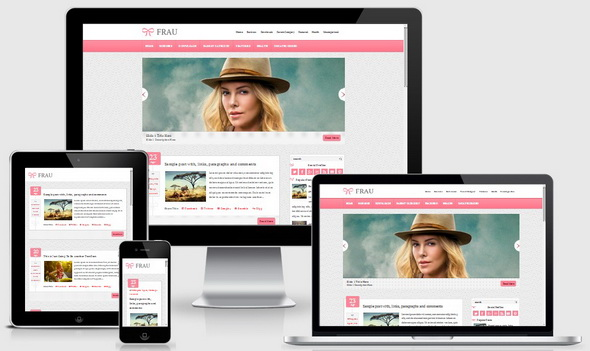 Frau Blogger Template