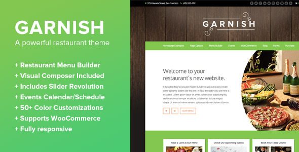 Garnish - A WordPress Theme for Restaurants