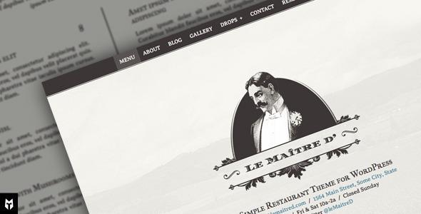 Le Maitre d'- Super Simple Restaurant WP Theme